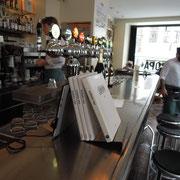 """Blick ins Kopenhagener Café """"Europa 1989"""". Foto: C. Schumann, 2019"""