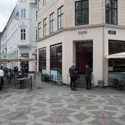 "Das Café ""Europa 1989"" am Platz Amagertorv in Kopenhagen. Foto: C. Schumann, 2019"