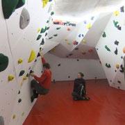 Kletterhalle Knopffabrik in Zwickau - Boulderbereich