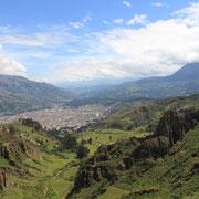 Bergsteigerstadt Huaraz in Peru