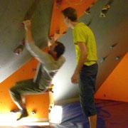Mittwochstraining im Boulderboden Grünheide, 18.01.2012