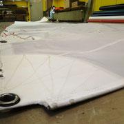 Schothorn eines von uns gefertigten Großsegels