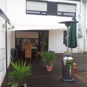 Terrassenüberdachung aus PVC