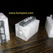 KOMPAUT Cilindri pneumatici a doppio effetto interamente realizzati in tecnopolimero.