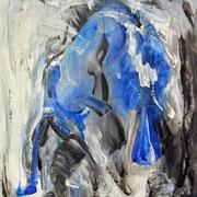 Titel Nr.8: Das Blaue vom Himmel holen Entstehungsjahr: 2002 Breite: 65 cm, Höhe: 85 cm Acryl auf Pappe (ohne Rahmen)
