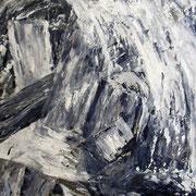 Titel Nr.6: Wasserkraft Entstehungsjahr: 2002 Breite: 80 cm, Höhe: 100 cm Acryl, Kunstharz, Quarzsand,Papier auf Leinen