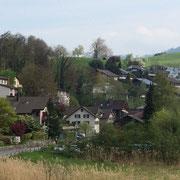 Links: Dormenhaus, Rechts Blick Richtung Baubereich Süd