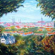 Blick vom Bürgergarten auf Naumburg