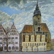 Wenzelskirche und Marktplatz