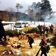 木の伐採・薪づくりワークショップ