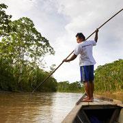 Fischen nach alter Indio Tradition