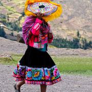 Quechua Frau im Colca Tal