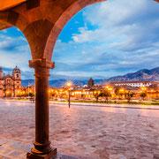 Cuzco in der Abenddämmerung