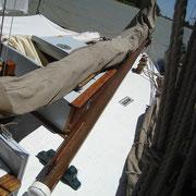 jib boom stowed on deck