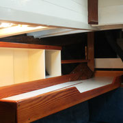 removable pilot berth in position