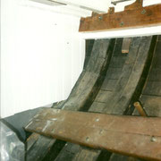 Starboard side of the aft cabin, to become the navigation corner.