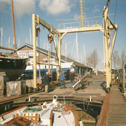 Eos is completed with mast, rigging and sails in 2002.
