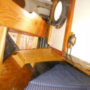 starboard - chart storage up against cockpit floor