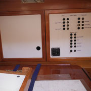 switch board above chart table