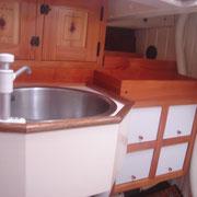 wash basin and lockers