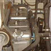 front - the 4 cylinder heads with decompression valves