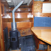 diesel stove, port side