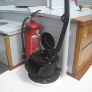 bilge pump and fire extinguisher