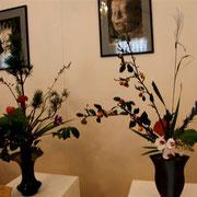 仏画と生花のコラボレーション