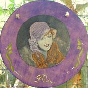 Lilian Gish_Acrilico su cartone e supporto legnoso_2016