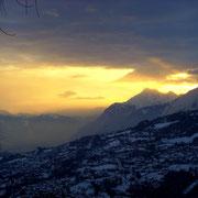 Winterhimmel am Abend