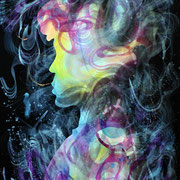 Identity, mixed media on paper, 76 c 52cm, 2019, Mauricio Paz Viola