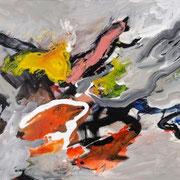 INGEBORG PORSCH, o. T., Acryl auf Leinwand, 100 x 130 cm