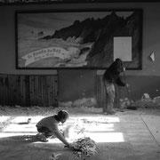 2005 (boulot) - Le billard club de Plogoff quitte l'ancienne école de Lescoff, Benoît y voit un futur gîte et il passe à l'action (chantier N°2)