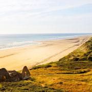 Strand und Meer bei Carteret Normandie