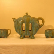 Whimsical Tea Set, Hand built, fully functioning