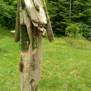 One of a kind Maple suet feeder