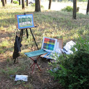 Working en plein air in Italy