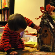 Little Barbara Chang in Brooklyn, NYC enjoying her Christmas gift, 2011.