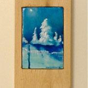 """Moon Glow, 3"""" x 5"""" cedar board frame"""