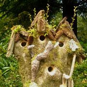 """""""Hazelnut Hollow"""" A four part bird house in one Filbert tree"""