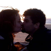 Our 4th anniversary kiss at the beach
