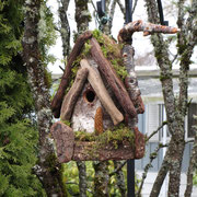 A Douglas Fir bird house in the Polizzo's garden in Corvallis, Or