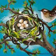 """Wren's Nest, 8"""" x 10"""", 2011"""