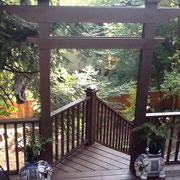 Ferrar Client Photo, in Tigard, OR, a gorgeous setting. Our bird house is on the left