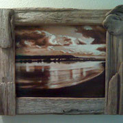 "Windblown Light, 9"" x 12"" Framed in Driftwood, 2011"