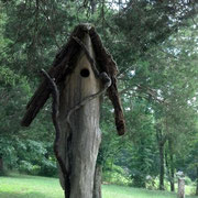 From Susan Carson Lambert, a Given Back end-piece hung in an old Cedar on her picturesque property in rural Kentucky