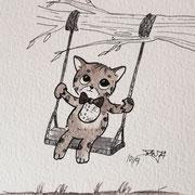 Inktober Tag Nummer 9 - Handsome Cat