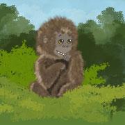 Affe im Dschungel