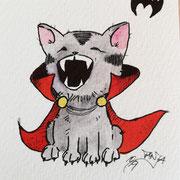 Inktober Tag Nummer 26 - Vampire Cat