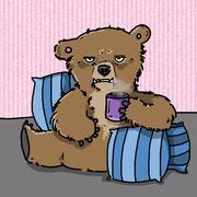 Morgenmuffel-Bär am Montag